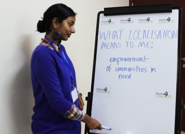 'We need Localisation to empower communities in need' - Anita Kattakuzhy, Oxfam International, Nairobi 19.02.16