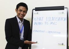'We need Localisation to ensure context-sensitivity' Asnawi Nurdin, Forum Bangun ACEH, Nairobi 19.02.16