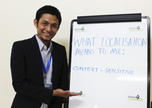 'We need Localisation to ensure context-sensitivity' Asnawi Nurdin, Forum Bangun ACEH, Nairobi 19.02.16