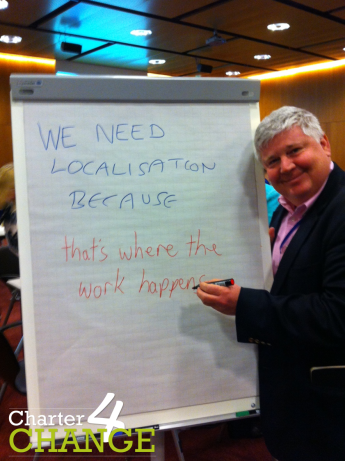 We need localisation because 'that's where the work happens' ICVA Conference 2016