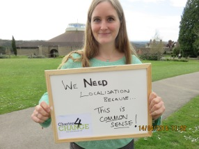 We need localisation because 'This is Common Sense!' Zoe Corden, Emergency Support Officer, CAFOD