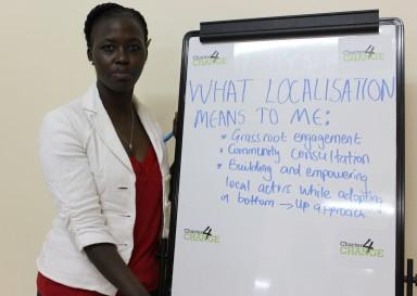 'We need localisation to build and empower local actors while adopting a bottom-up approach' Naitore Gituma, Somalia NGO Consortium, Nairobi 19.02.16