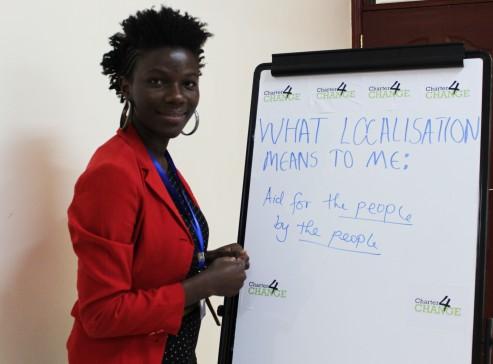 'We need localisation to enable Aid for the people by the people' Ndinda Kioko, SNGO Network, Nairobi 19.02.16