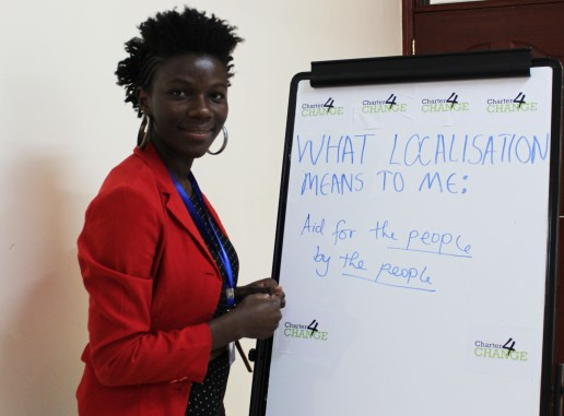 'We need localisation to enable Aid for the people by the people' Ndinda Kioko, SNGO Network, Nairobi 19.02.16