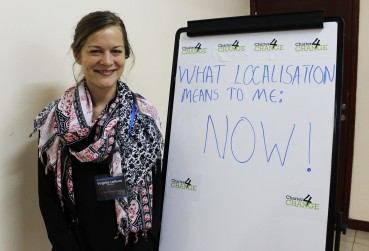 'We need Localisation NOW', Virginie Lefevre, Amel Association, Nairobi 19.02.16