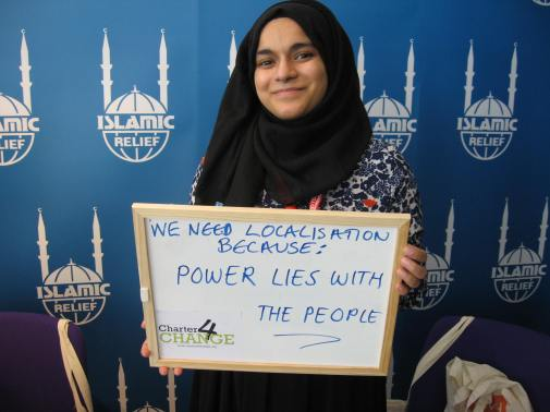 We need localisation because, power lies with the people, Islamic Relief, Bond Conference UK